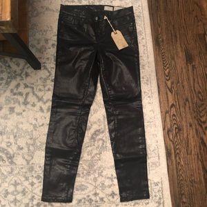 NWT AllSaints waxed denim jeans